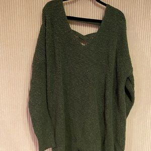 Hunter green sweater from Torrid